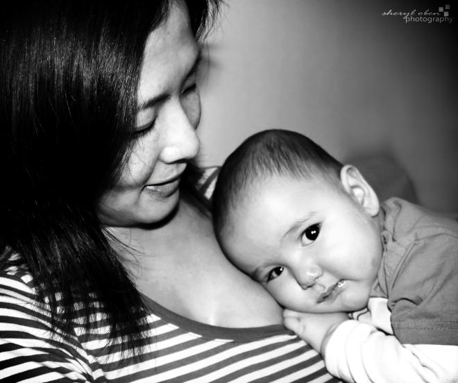 Hisako and baby