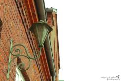 antique green lamp