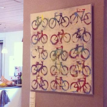 Biking painting