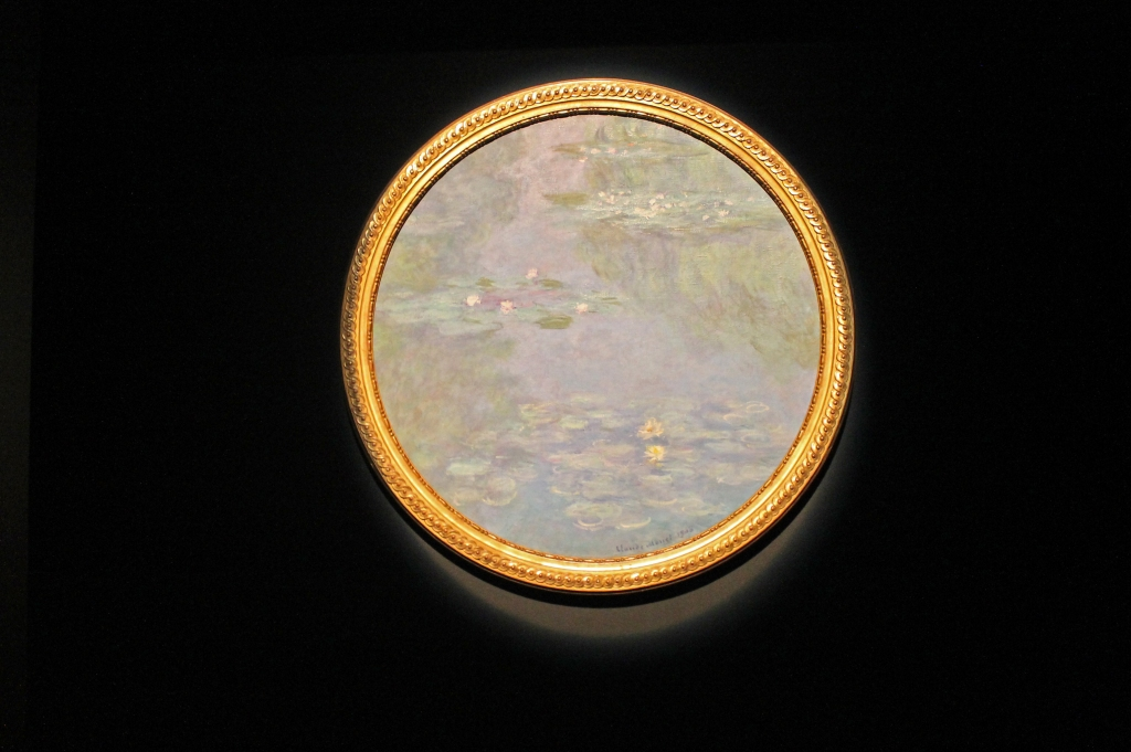 The museum is currently showing Monet – Lost in Translation. a collection of artworks by the greatest French impressionists including Monet. Here's one of Monet's iconic paintings of waterlilies